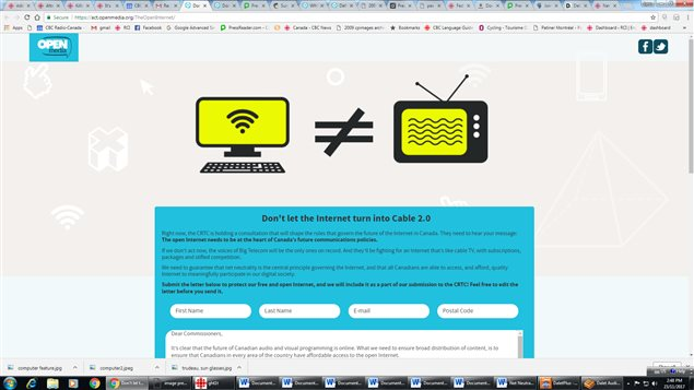 OpenMedia is asking internet users to join its online campaign to guarantee net neutrality.