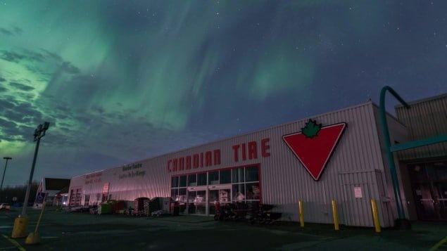L'aurore boréale a illuminé le ciel de Kapuskasing. Photo : Jonathan Beauséjour