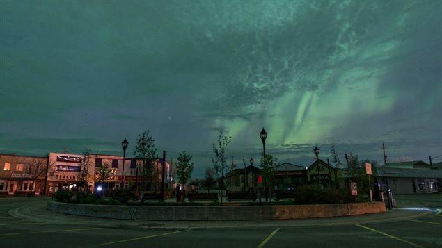Une aurore boréale dans le ciel de Kapuskasing Photo : Jonathan Beauséjour