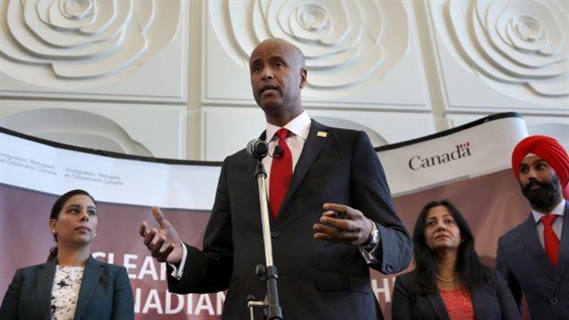 وزير الهجرة الكندي أحمد حسين