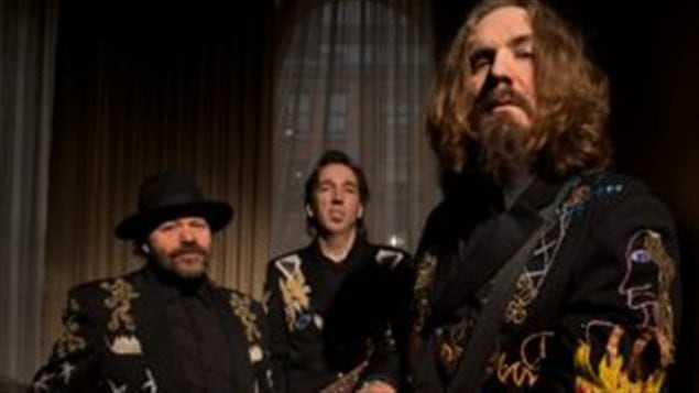 Blackie and he Rodeo Kings L-R Colin Linden, Stephen Fearing, Tom Wilson
