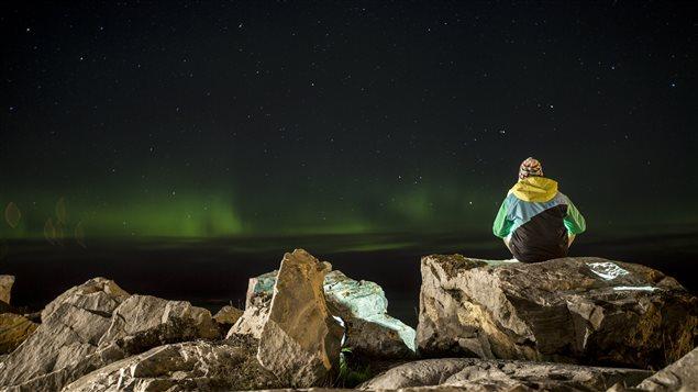 Aurores boréales dans la région de Rimouski, le 28 septembre Photo : Charles Beaudoin