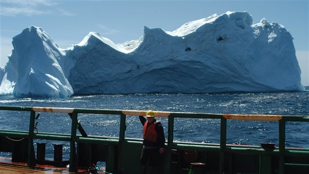 Ships can be sent to tow icebergs that are identified as a threat.