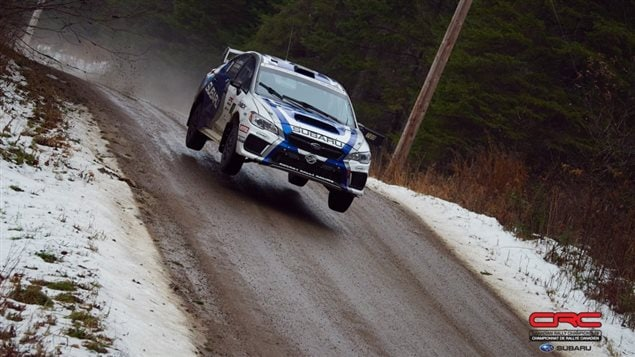 The team of driver Antoine L'Estage and co-driver Alan Ockwell, are set to become the Canadian rally champions with one more race to go