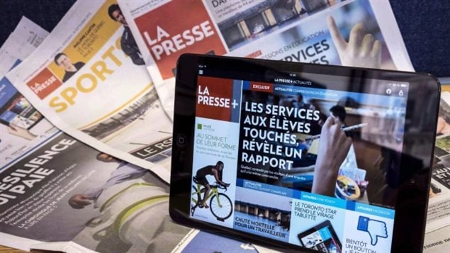 Print in th background, as digital in the foreground takes over. La Presse will run its last print edition on Dec. 31, 2017.
