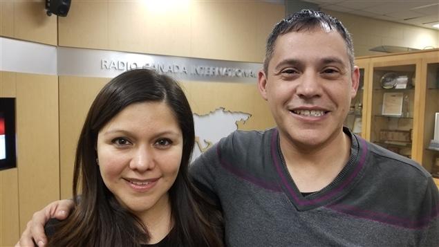 Dos miembros del Lyric Theatre Singers': la mexicana Adriana Carmona y el peruano Jorge Cordts.