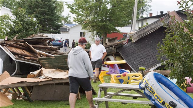 Tornadoes in Canada are not as powerful as those in the U.S. but they still can cause a lot of damage, as did this one in Lachute, Quebec in August 2017.
