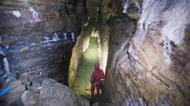 Daniel Caron has been exploring a cave under Montreal as a hobby and has been searching for more passages for years.