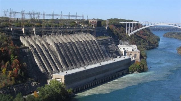 The Sir Adam Beck II generating station in the Niagara River