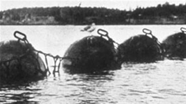 The submarine nets that protected the harbour from sneak attacks, they were stretched across the narrovs each night and removed in the morning.