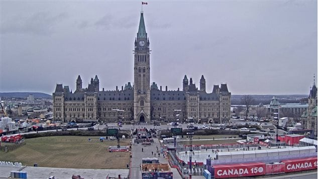 The scene on Parliament Hill Thursday afternoon