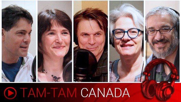 Les animateurs Stéphane Parent, Anne-Marie Yvon, Marc Montgomery, Marie-Claude Simard et Leonardo Gimeno.