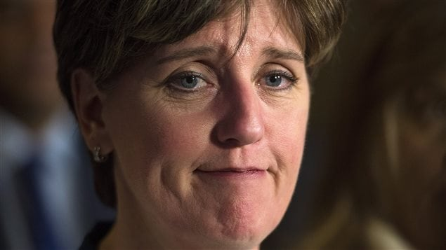 International Development Minister Marie-Claude Bibeau pauses as she holds a media availability on Parliament Hill in Ottawa on Wednesday Dec. 13, 2017, to report on the Myanmar Crisis Relief Fund.