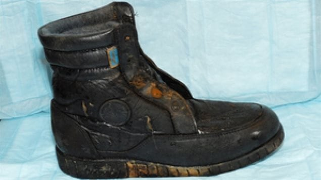 The B.C. Coroners Service released this photo of a hiking boot that washed up on the shore of Sasamat Lake in 2011. It was later determined it belonged to a 65 year old man who disappeared while fishing in 1987. His overturned boat was found shortly after his disappearance