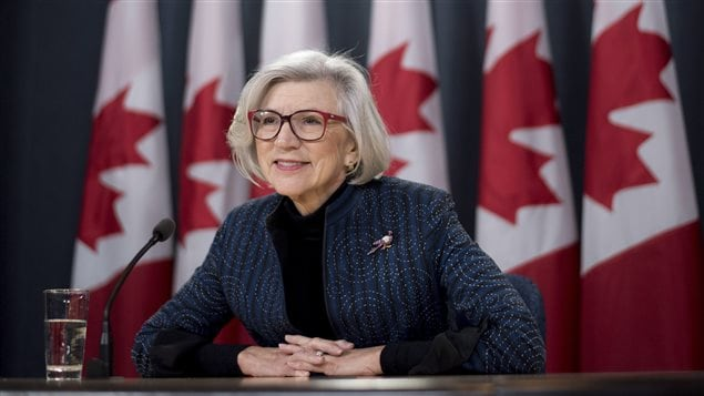 Outgoing Chief Justice of the Supreme Court of Canada Beverley McLachlin listens to a question during a news conference on her retirement, in Ottawa on Friday, Dec. 15, 2017.