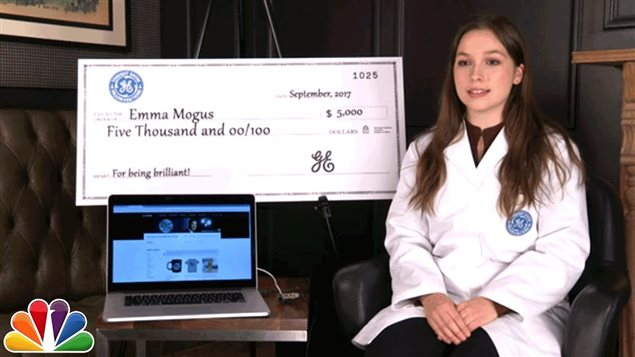 Emma Mogus, who keeps doing things to make this a better world, got rewarded last fall with a stipend from General Election and an appearance on U.S. national television's, The Tonight Show with Jimmy Fallon.