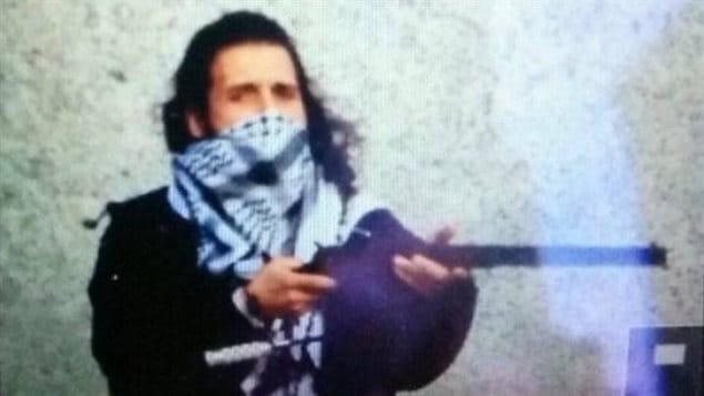 Oct 2014: Police sources confirmed this image tweeted from an ISIS account depicts Michael Zehaf-Bibeau, who shot and killed a reserve soldier on ceremonial duty at the Tomb of the Unknown Soldier, before running into the Parliment Buildings and being shot himself.