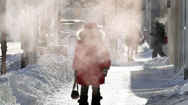 Winnipeg on Wednesday. The extreme cold in Manitoba was expected to ease up by Thursday, but Environment Canada says it will return again for the weekend.