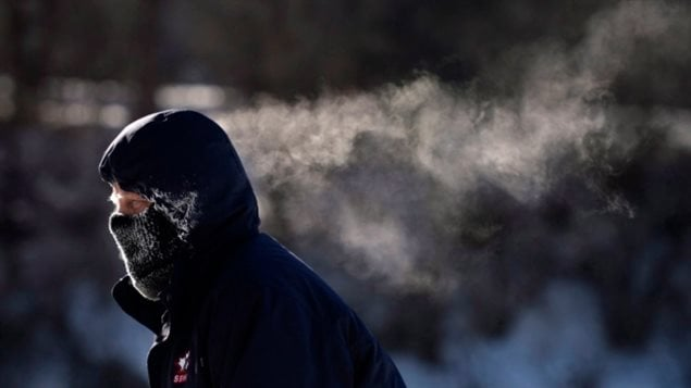 Environment Canada warns that frostbite can develop within minutes on exposed skin, especially when windy conditions are mixed with way-below-normal temperatures. That's pretty much how it is right across Canada this week.