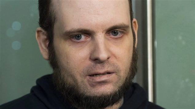 Joshua Boyle speaks to the media after arriving at the Pearson International Airport in Toronto on Friday, Oct. 13, 2017.