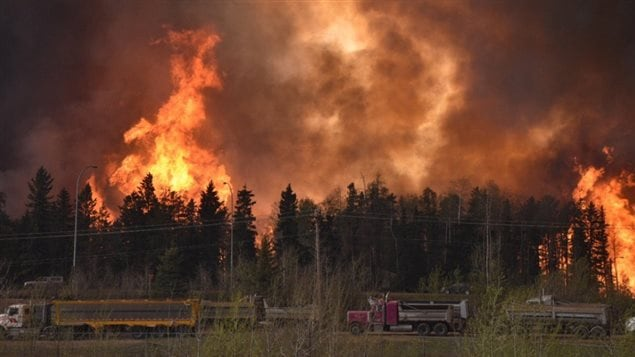 The massive fire that destroyed a large portion of the Alberta town of Fort McMurray was just one example of what might come with increased global warming resulting in an increase in arid conditions