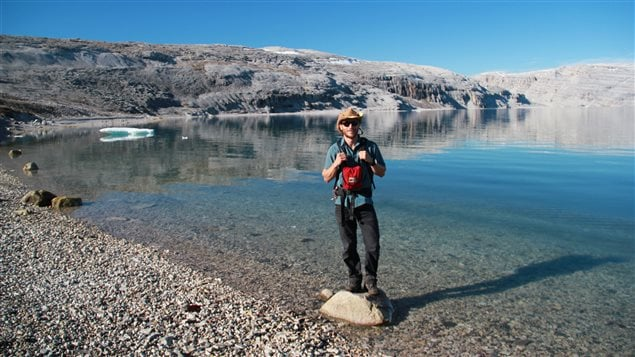 Timothy Gibson at his field location on Tremblay Sound in northern Baffin Island (Photo Sarah Wörndle)