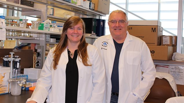 Lead author Marie-Claude Bourgeois-Daigneault (PhD), and senior researcher professor John Bell (PhD FRSC)