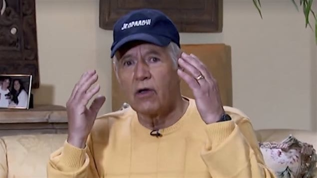 Game show host Alex Trebek explains his brain surgery in a video posted on the Jeopardy Facebook page.