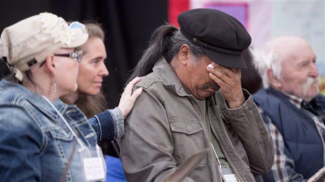 Las escenas de dolor han sido frecuentes en las audiencias sobre lo ocurrido en los pensionados.