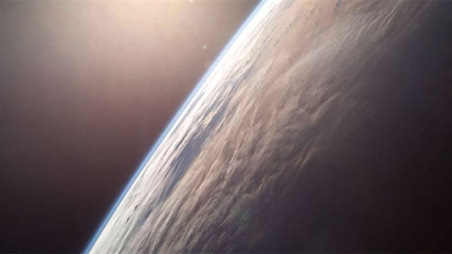 The stratosphere ranges from 10km-to 50km above the Earth, The ozone layer there filters out a majority of the sun's harmful ultraviolet radiation.