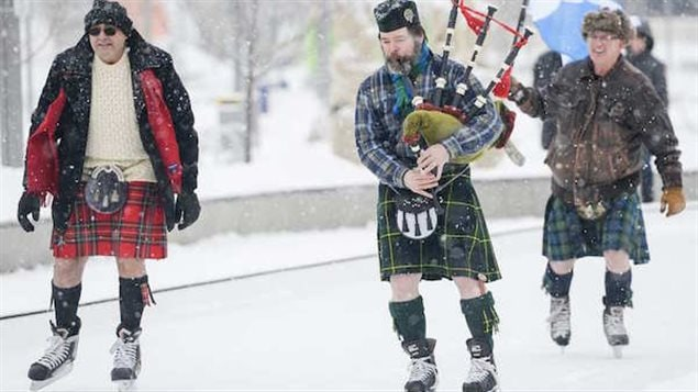 The skirl of the great highland bagpipes always add the right tone to the events.