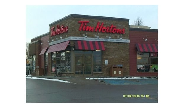 The furor began when the owners of this franchise in Cobourg Ontario told their minimum wage employees, their few benefits were being cut. Adding to the anger perhaps was that the franchise is owned by the heirs to the chain's founders.
