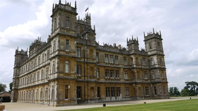 Downton Abbey is filmed at Highclere Castle, an estate that is actually much bigger in real life, says Lady Carnarvon, whose family built the castle in 1842. It's celebrating a very important Canadian connection today.