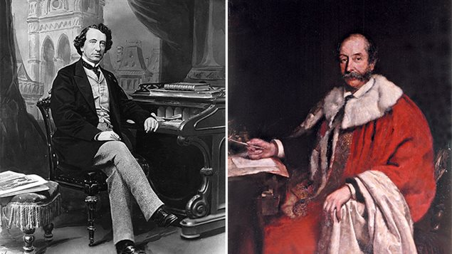 (L) Sir John A Macdonald, *Father of Confederation* and first Canadian Prime Minister and (R) the Fourth Earl of Carnarvon. Together the men worked to create Canada's Constitution at Highclere Castle