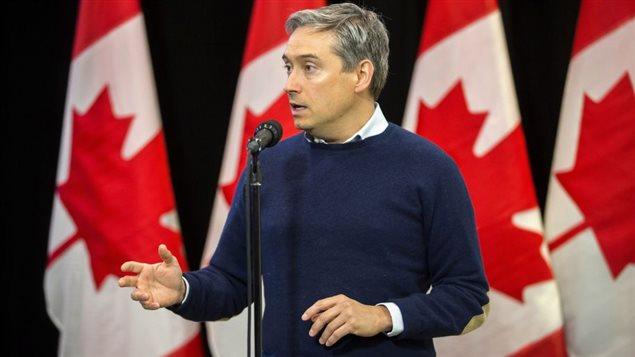 Photo: Geoff Robins La Presse canadienneLe ministre du Commerce international, François-Philippe Champagne