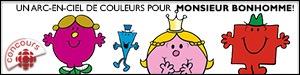 Un arc-en-ciel de couleurs pour Monsieur Bonhomme!