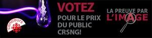 Votez pour le prix du public CRSNG!
