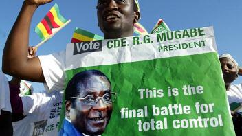 Affiche d'un partisan de Robert Mugabe