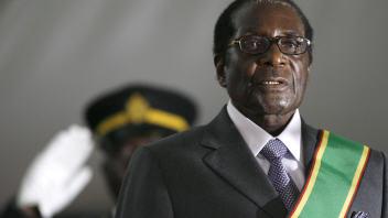Robert Mugabe lors de son assermentation