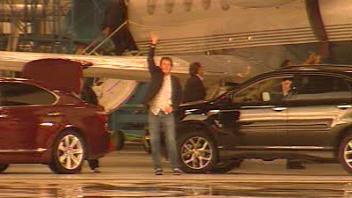Paul McCartney lors de son arrivée à Québec