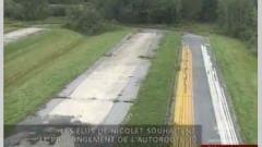 La fin de l'autoroute 30 à Nicolet.