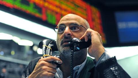 Un courtier de la Bourse de Chicago