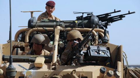 Militaires britanniques dans la province d'Helmand