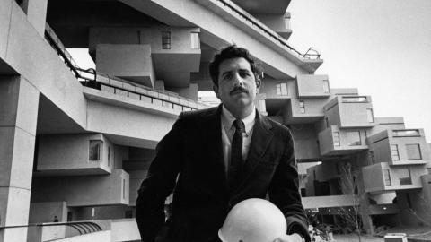 Habitat 67 et l'architecte Moshe Safdie.
