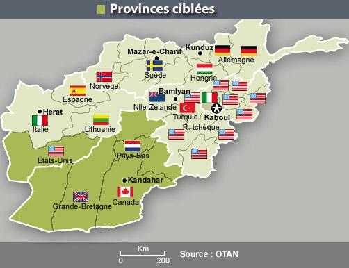 Provinces ciblées