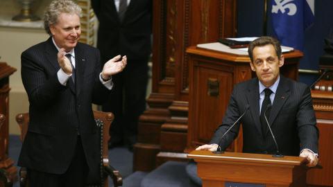 Nicolas Sarkozy a été longuement ovationné avant d'entamer son discours
