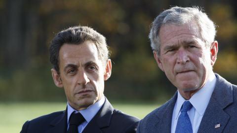 Sarkozy-Bush-Camp-David