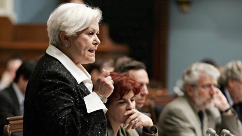 Louise Harel à l'Assemblée nationale du Québec