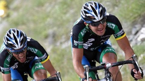 Alberto Contador et Yaroslav Popovych