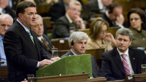 Jim Flaherty, lors de son énoncé économique